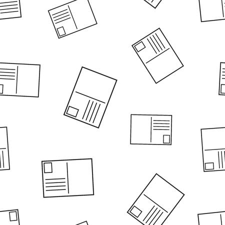 Postcard envelope icon seamless pattern background. Stock Illustratie