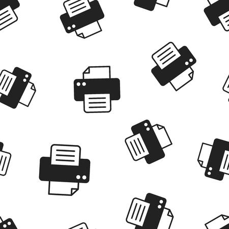 Printer icon seamless pattern background. Standard-Bild - 106033007