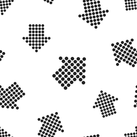 Arrow icon seamless pattern background.