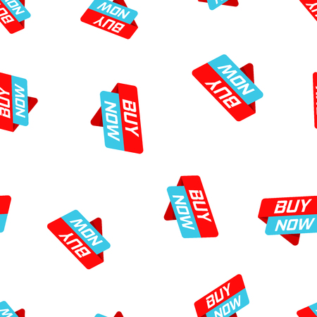 Buy now banner badge icon seamless pattern background.