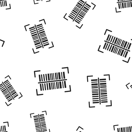 Barcode product distribution icon seamless pattern background. Vectores
