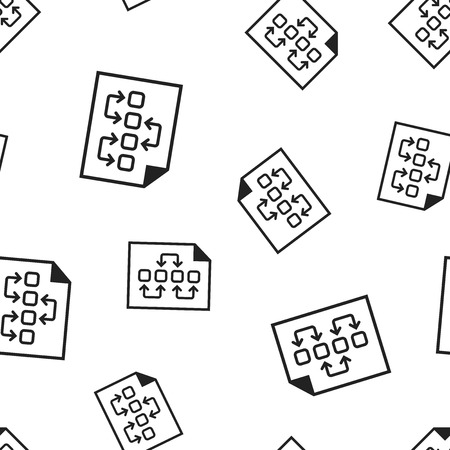 Tactical plan document icon seamless pattern background.