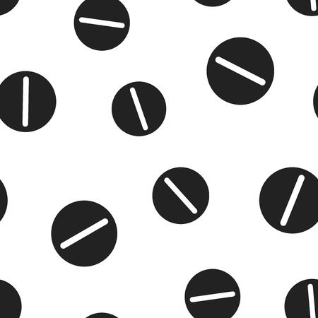 Pill icon seamless pattern background.