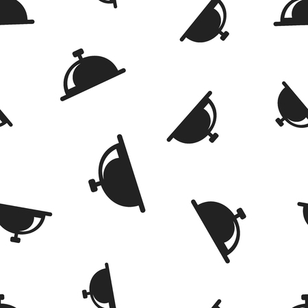 Bell icon seamless pattern background. Illustration