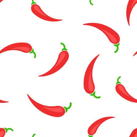 Fondo senza cuciture dell'icona del peperoncino. Illustrazione di vettore di concetto di affari. Peperoncino paprika modello di simbolo.