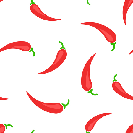 Nahtloser Musterhintergrund des Chili-Pfeffer-Symbols. Geschäftskonzeptvektorillustration. Chili Paprika Symbol Muster.