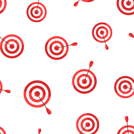 Target aim icon seamless pattern background. Business concept vector illustration. Dartboard sport target symbol pattern.