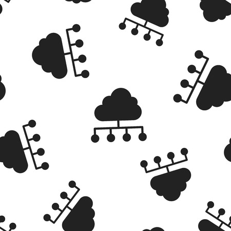 Cloud computing technology icon seamless pattern background. Business concept vector illustration. Infographic analytics network symbol pattern.
