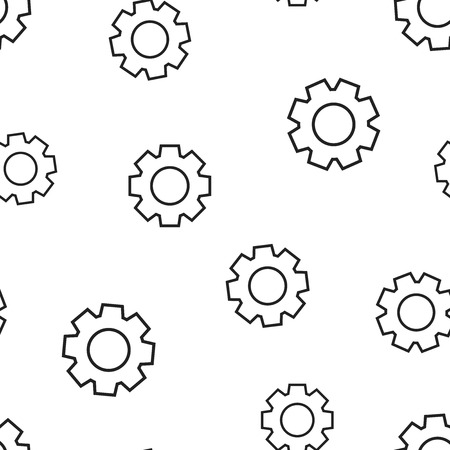 Gear cog wheel icon seamless pattern background. Business concept vector illustration. Gearwheel cogwheel symbol pattern. Foto de archivo - 103581666