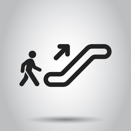 Escalator elevator icon. Vector illustration. Business concept escalator pictogram. 스톡 콘텐츠 - 103581670