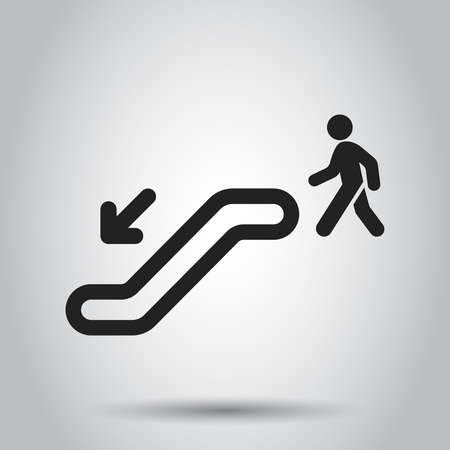 Escalator elevator icon. Vector illustration. Business concept escalator pictogram. 스톡 콘텐츠 - 103581673