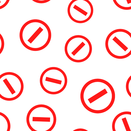 Stop sign icon seamless pattern background. Business concept vector illustration. Danger stop alert symbol pattern.