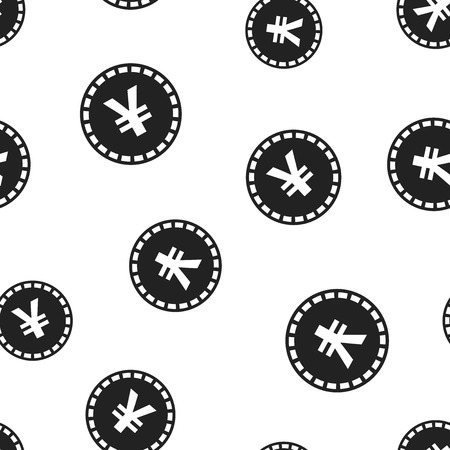 Yen, yuan money currency icon seamless pattern background. Business concept vector illustration. Asia coin money symbol pattern. Ilustrace