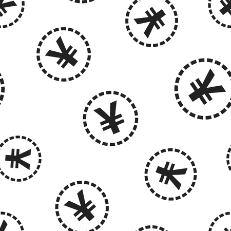 Yen, yuan money currency icon seamless pattern background. Business concept vector illustration. Asia coin money symbol pattern. Иллюстрация