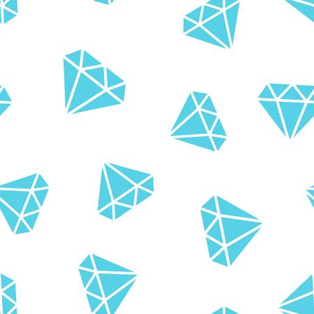 Diamond jewel gem icon seamless pattern background. Business concept vector illustration. Jewelry brilliant symbol pattern. Иллюстрация