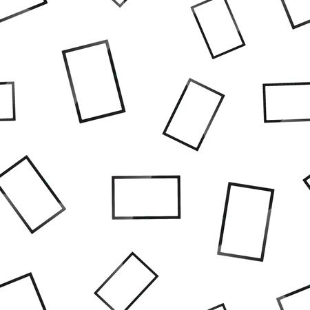 Realistic tv screen icon seamless pattern background. Business concept vector illustration. Tv monitor display symbol pattern. Ilustração