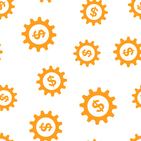 Business and finance management icon seamless pattern background. Business concept vector illustration. Financial strategy symbol pattern.