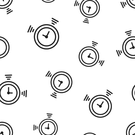 Clock timer icon seamless pattern background. Business concept vector illustration. Time alarm stopwatch clock symbol pattern.