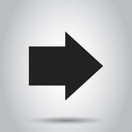 Arrow icon. Vector illustration. Business concept arrow flat pictogram.