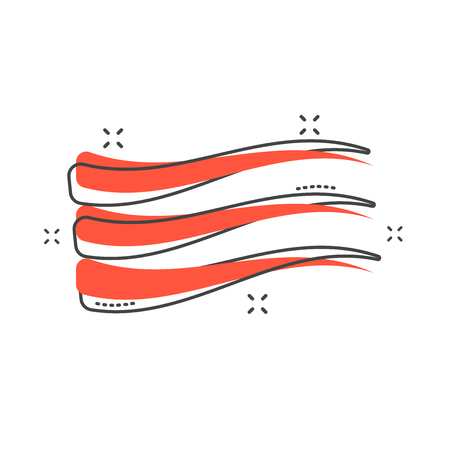 Cartoon wave icon in comic style. Flow sign illustration pictogram. Wave splash business concept.
