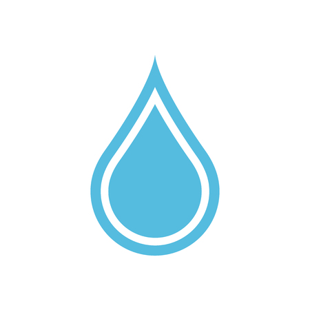 Water drop icon in flat style. Raindrop vector illustration on white isolated background. Droplet water blob business concept. Ilustração