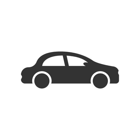 Ikona samochodu w stylu płaski. Ilustracja wektorowa samochód samochód na na białym tle. Koncepcja biznesowa auto. Ilustracje wektorowe