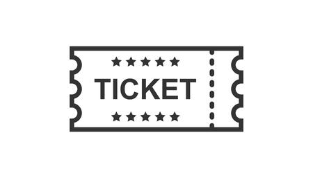 Ikona bilet do kina w stylu płaski. Przyznać jeden kupon wejście wektor ilustracja na na białym tle. Koncepcja biznesowa bilet.