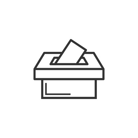 Election voter box icon in flat style. Ballot suggestion vector illustration on white isolated background. Election vote business concept.