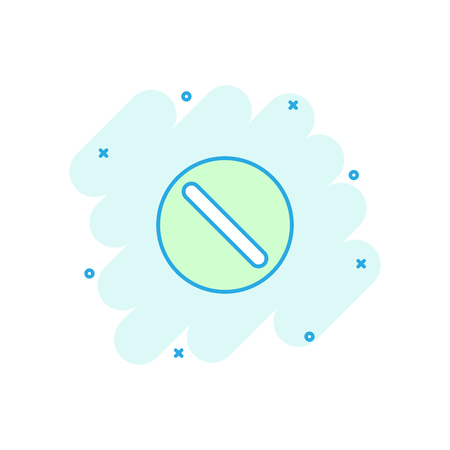 Vector cartoon pill icon in comic style. Tablet concept illustration pictogram. Capsule medical business splash effect concept.