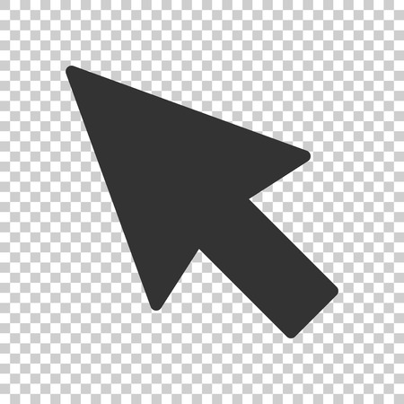 Computer mouse cursor icon in flat style. Arrow cursor vector illustration on isolated background. Mouse aim business concept. 일러스트