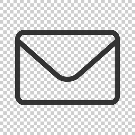 Mail envelope icon in flat style. Receive email letter spam vector illustration on isolated background. Mail communication business concept. 일러스트