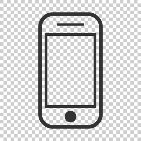 Smartphone icon in flat style. Phone handset vector illustration on isolated background. Smartphone business concept.