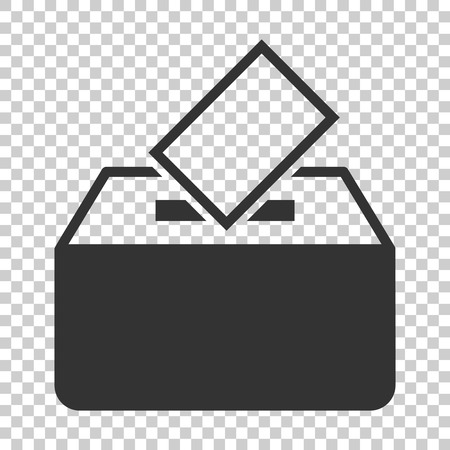 Election voter box icon in flat style. Ballot suggestion vector illustration on isolated background. Election vote business concept. Ilustrace