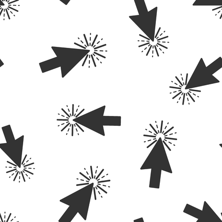 Computer mouse cursor icon seamless pattern background. Arrow vector illustration. Mouse aim symbol pattern.