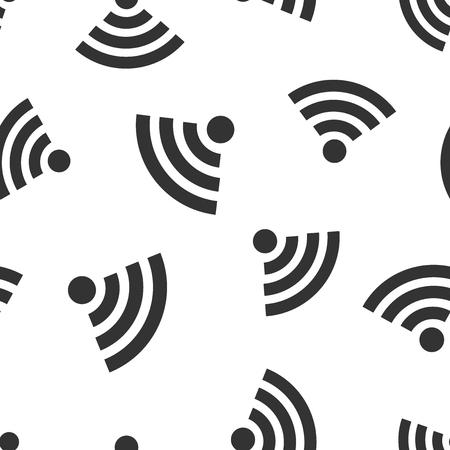 Wifi internet sign icon seamless pattern background.  wireless technology vector illustration. Network symbol pattern.