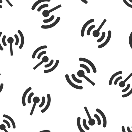 Wifi internet sign icon seamless pattern background.