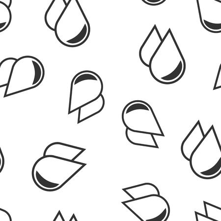 Water drop icon seamless pattern background. Raindrop vector illustration. Droplet water blob symbol pattern.