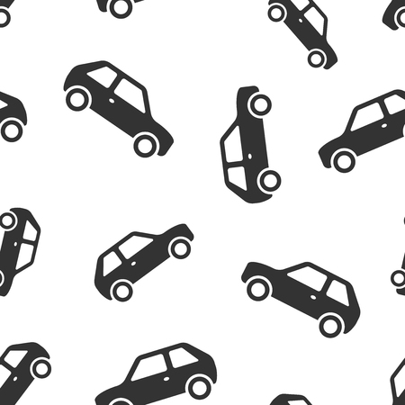 Car icon seamless pattern background. Automobile vector illustration. Auto symbol pattern.