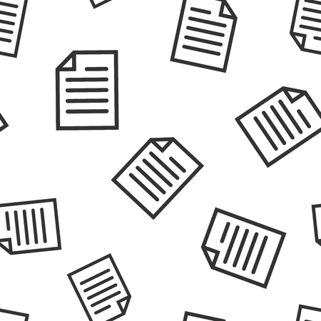 Document note icon seamless pattern background. Paper sheet vector illustration. Notepad document symbol pattern.