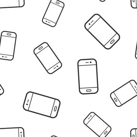 Smartphone icon seamless pattern background. Phone handset vector illustration. Smartphone symbol pattern. Vector Illustration