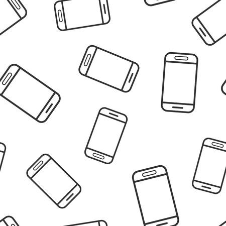 Smartphone icon seamless pattern background. Phone handset vector illustration. Smartphone symbol pattern.