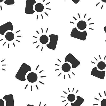 Mind people icon seamless pattern background. Human frustration vector illustration. Mind thinking symbol pattern. 矢量图像
