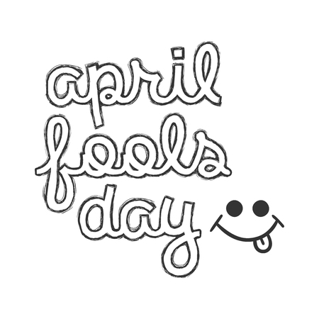 April fools day text icon in flat style. Happy banner vector illustration on white isolated background. Funny carnival business concept.