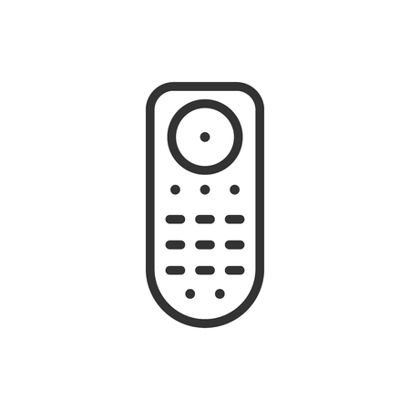 Remote control icon in flat style. Infrared controller vector illustration on white isolated background. Tv keypad business concept.