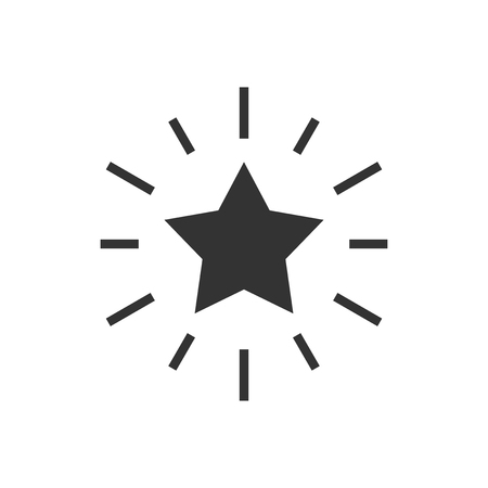 Excellence icon in flat style. Star ribbon vector illustration on white isolated background. Award medal business concept.