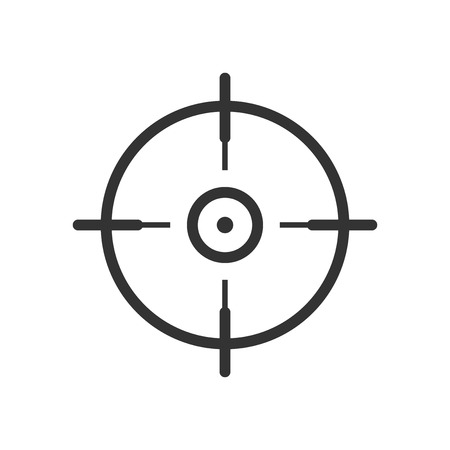 Shooting target vector icon in flat style. Aim sniper symbol illustration on white background. Target aim business concept.