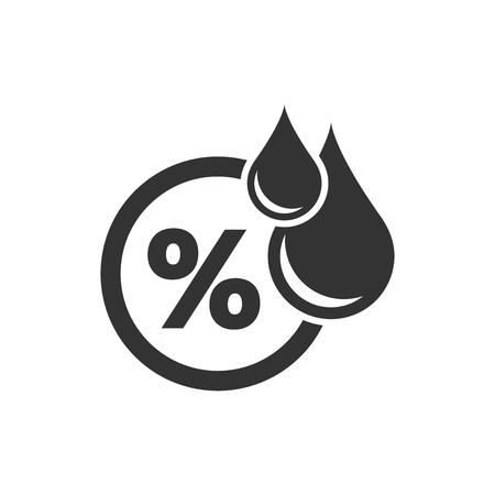 Humidity icon in flat style. Climate vector illustration on white isolated background. Temperature forecast business concept.
