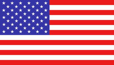 USA-Flaggensymbol im flachen Stil. Amerika-nationales Zeichen-Vektorillustration. Politisches Geschäftskonzept.