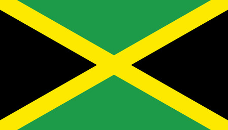 Jamaica flag icon in flat style. National sign vector illustration. Politic business concept.