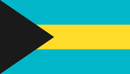 Bahamas flag icon in flat style. National sign vector illustration. Politic business concept.